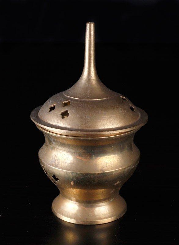 Indian Brass Covered Censer