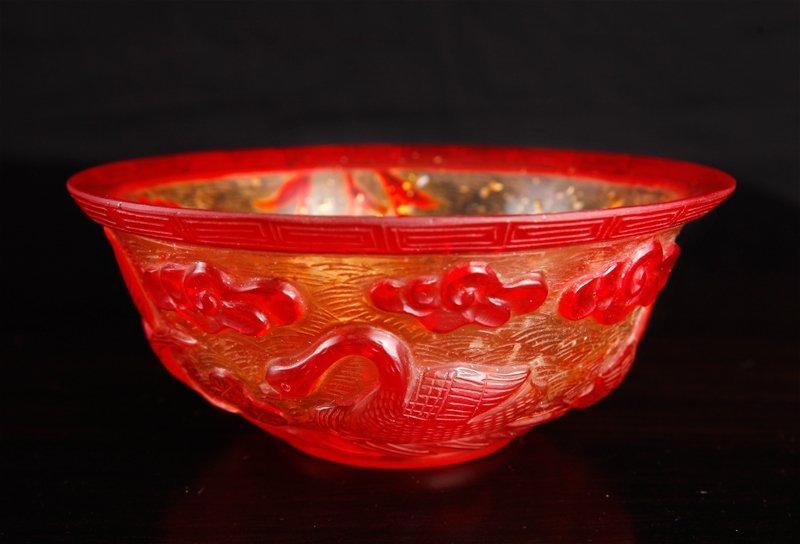 Chinese Peking Glass Bowl