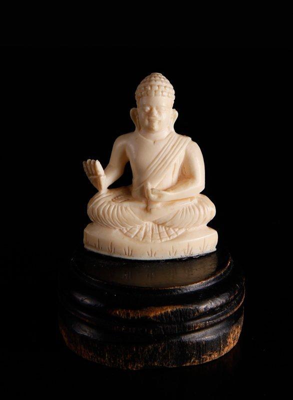 Chinese Carved Ivory Buddha