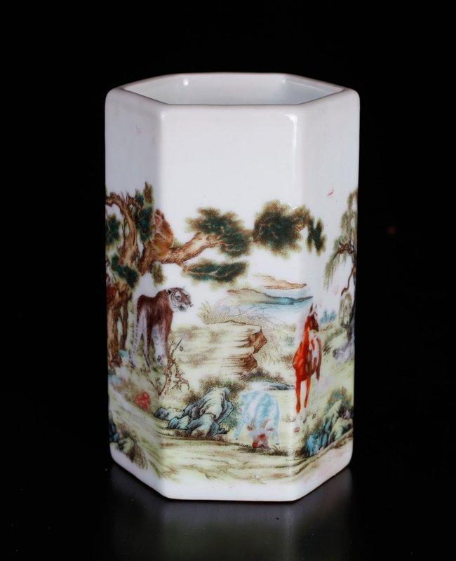 Chinese Republic Style Brush Pot