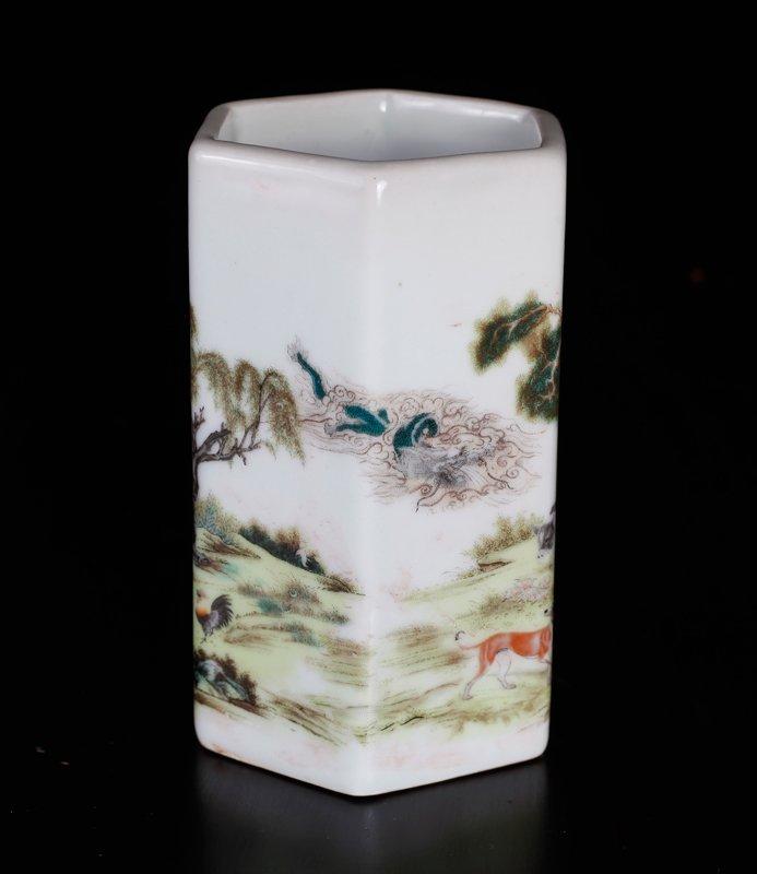 Chinese Republic Style Brush Pot - 3