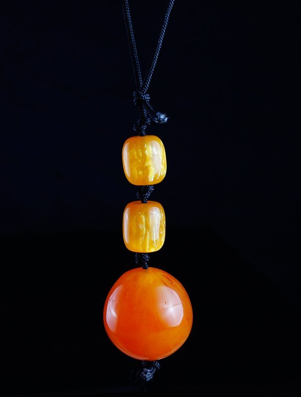 Chinese Amber Style Molded Beads
