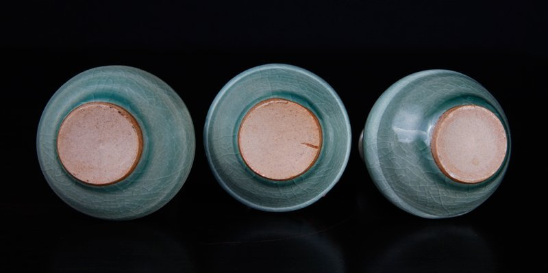 3 Korean Celadon Miniature Vases - 3