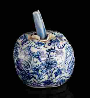 Chinese Blue & White Porcelain Water Dropper