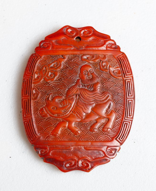 Chinese Horn Style Pendant
