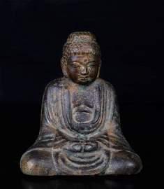 Chinese Qing Bronze Buddha