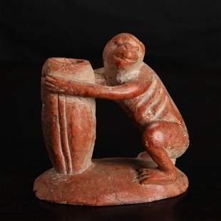 Chinese Republic Soapstone Monkey Carving