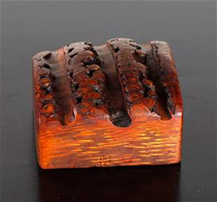 Chinese Carved Bamboo Seal