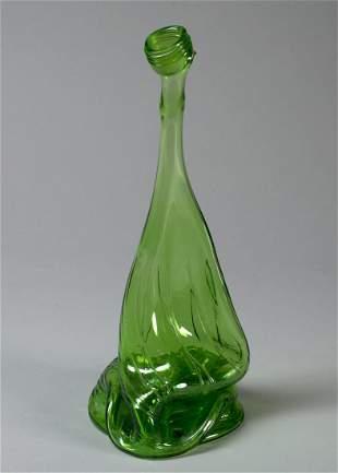 Vintage Stretched Glass Bottle Vase