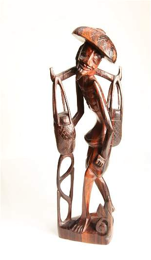 Carved African Wood Figure