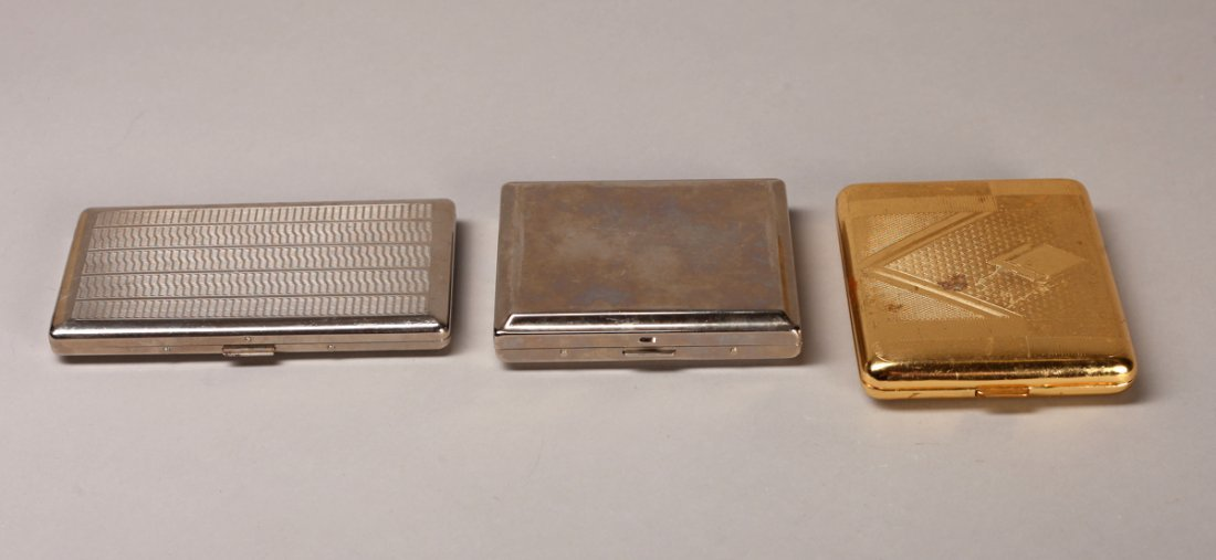 3 Cigarette Cases, One German