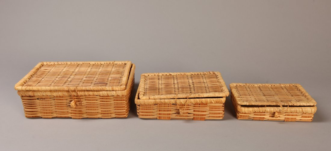 Set of 3 Graduated Wicker Boxes