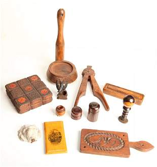 Grouping of Antique Wood Articles