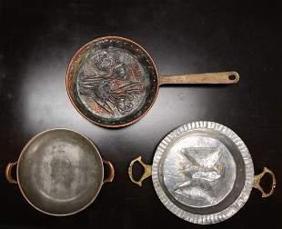 2 Antique Molds & Pan