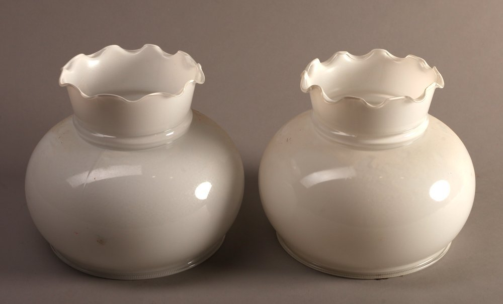 Pair of Milk Glass Shades