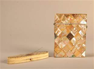 Victorian MOP Card Case & Needle Box