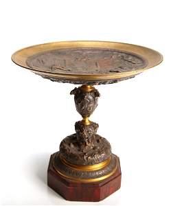 Fine Victorian French Brass & Copper Compote