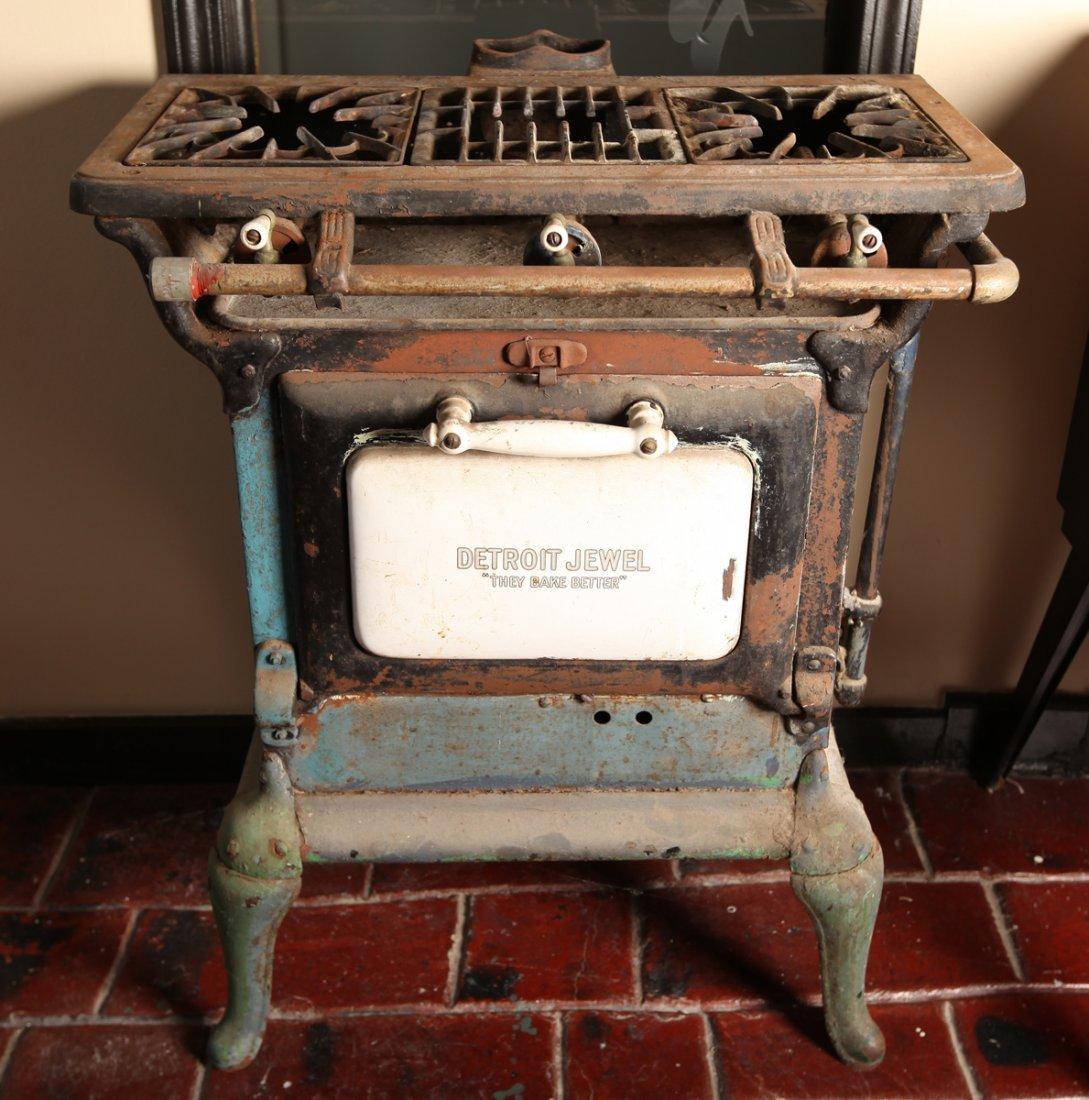 antique 1920 39 s 3 burner detroit jewel gas stove. Black Bedroom Furniture Sets. Home Design Ideas