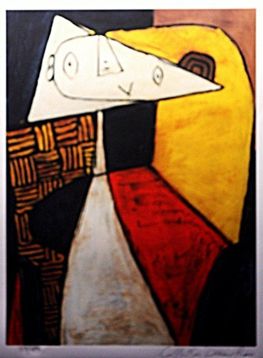 "1E: Picasso ""Seated Woman"" Lithograph Ltd.ed."