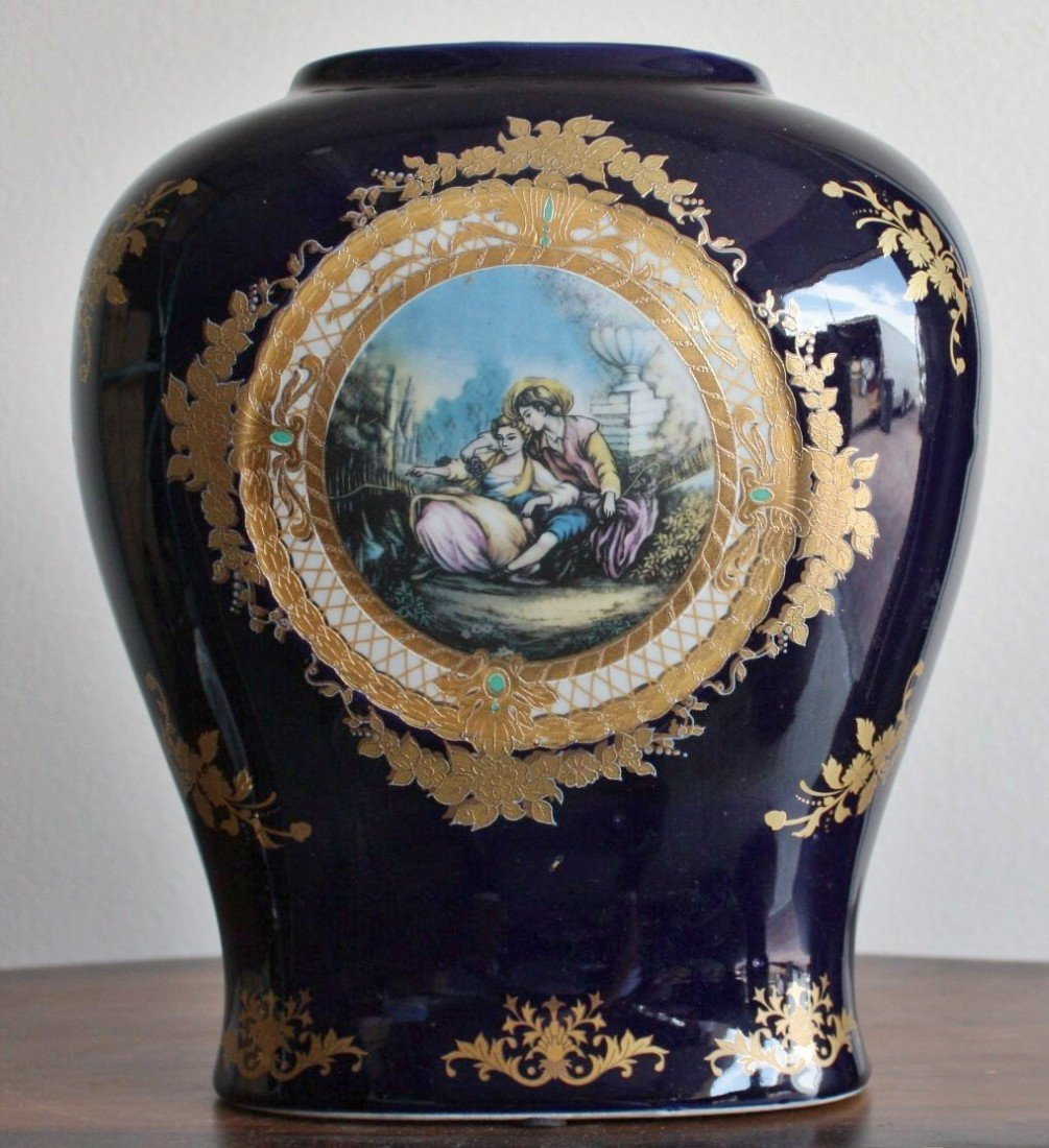 2B: Ornate porcelain vase