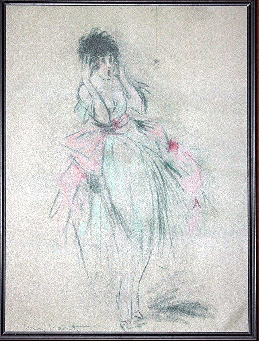 Louis Icart Giclee' on canvas