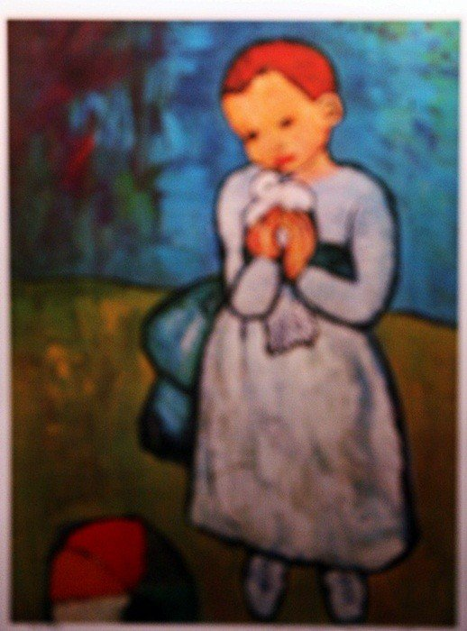 "4E: Picasso ""Child and Dove"" Lithograph Ltd.ed."
