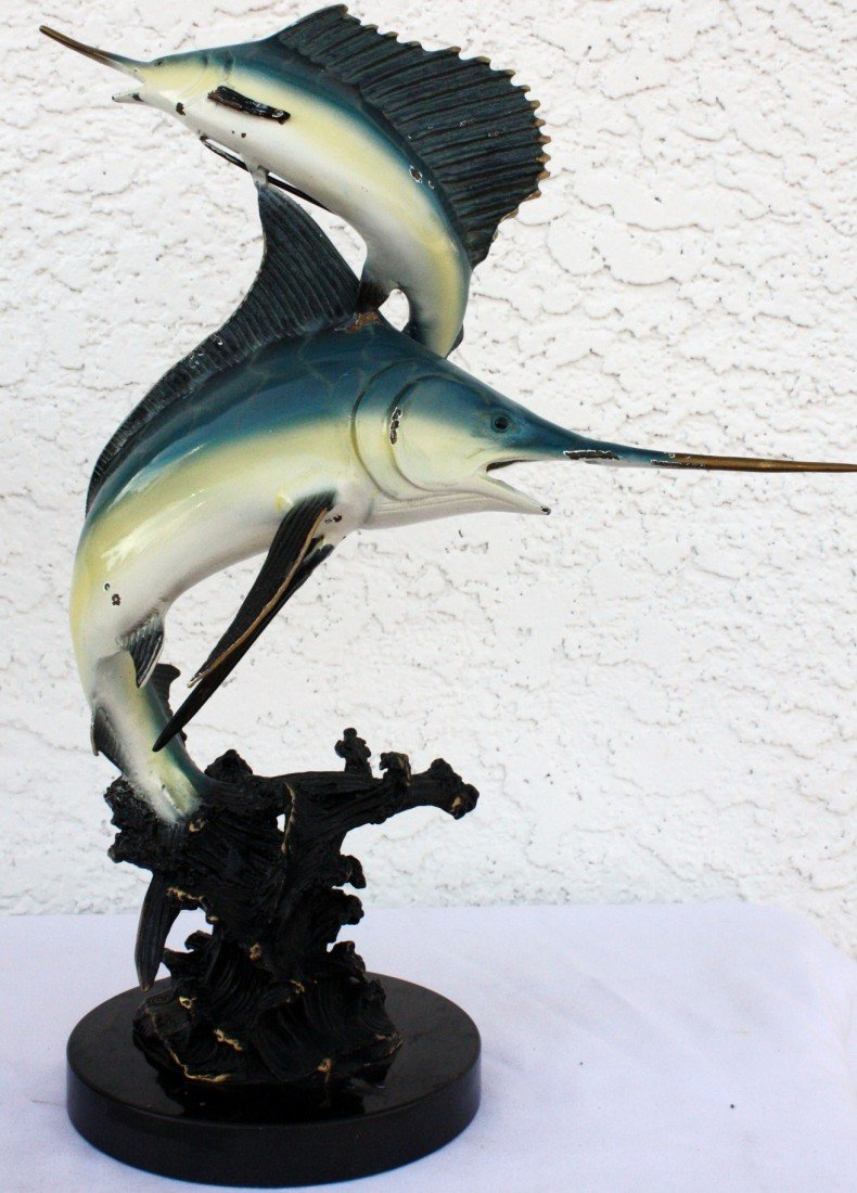 "4G: ""Sailfish Duo"" sculpture"