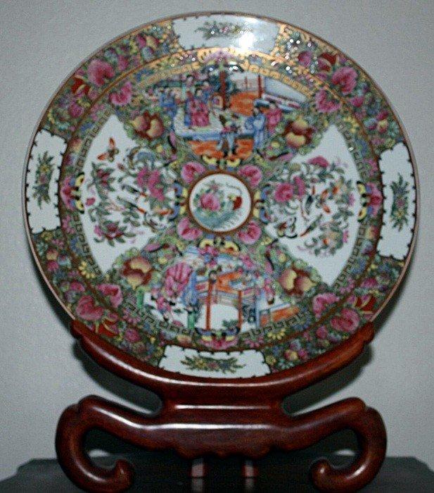 76B: Ornate porcelain plate