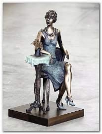 "46T: Tarkay ""Princess"" bronze sculpture hand signed"