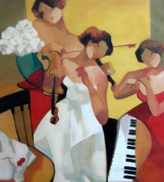 "1Z: Yunessi ""Brides Song"" Original oil"