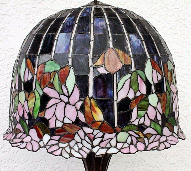 Ornate Floral Floor Lamp