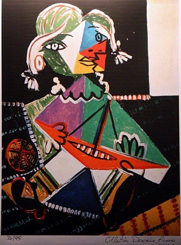 "Picasso ""Maya and Boat"" ltd. Ed."