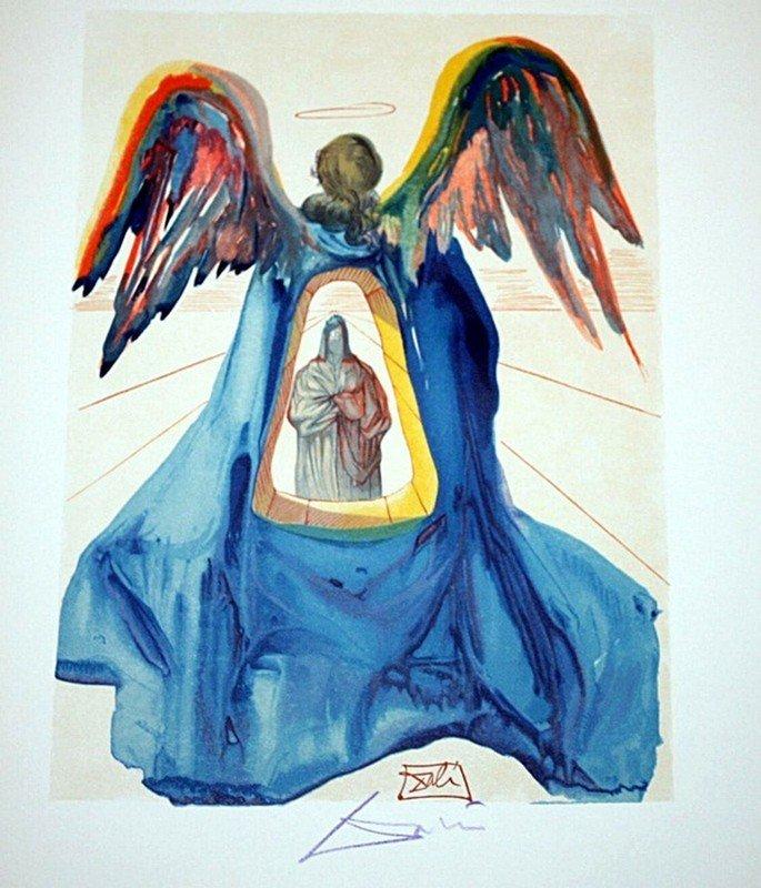 Dali rare signed color woodcut
