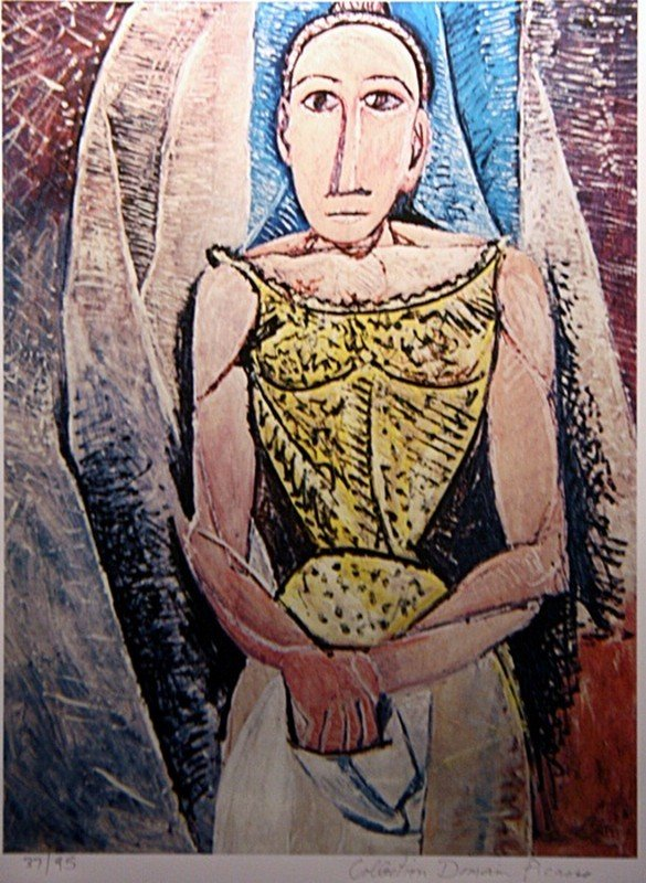 """Picasso """"Woman in Yellow"""" ltd. Ed."""
