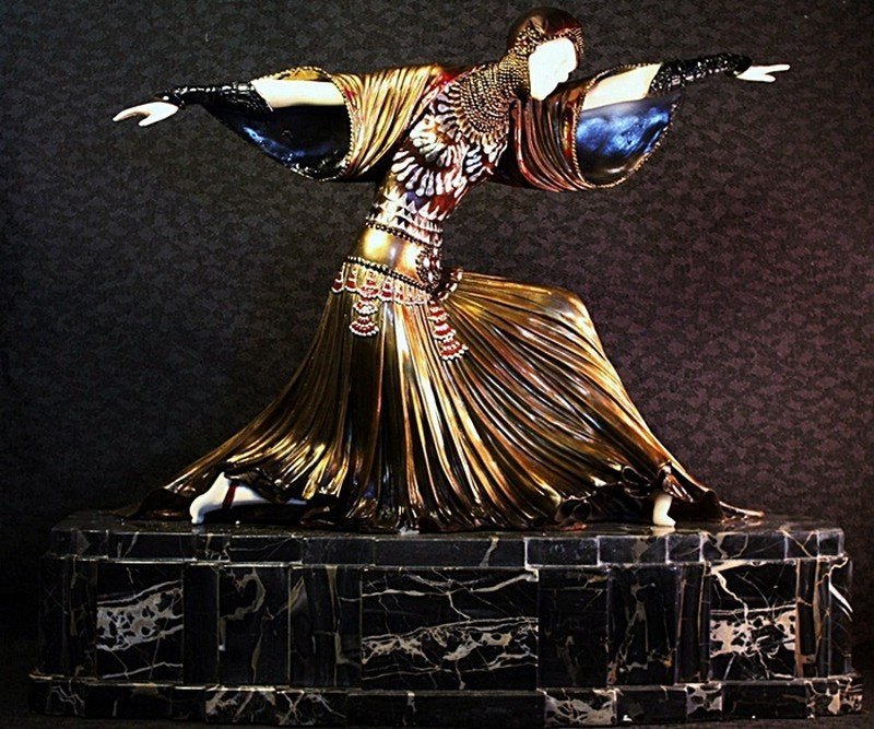 """""""Tanara"""" Chiparus bronze and ivory sculpture"""