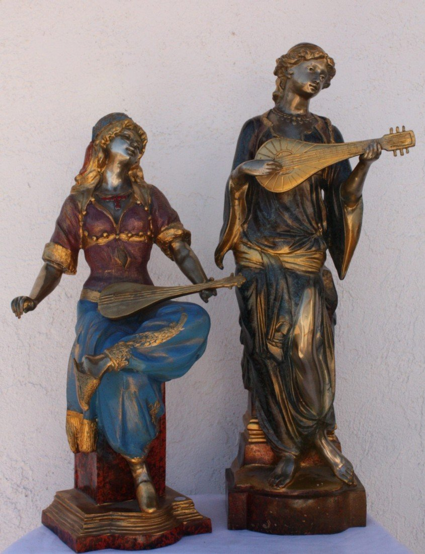 2T: Lot of Musical bronze sculptures