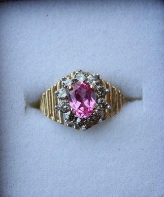 2M: Ladies Citrine and diamond ring