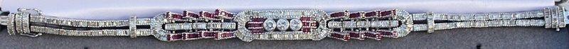 1: 18KT Ruby and Diamond Bracelet