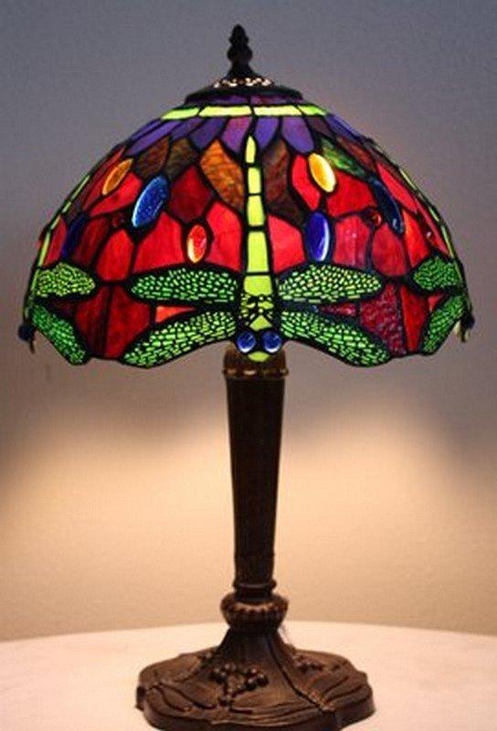 1C: Jeweld Dragonfly lamp