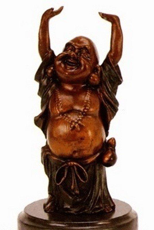 """3A: Wang """"Buddha"""" bronze sculpture"""