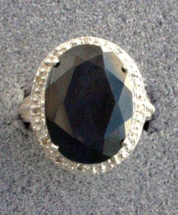 1C: Ladies Sapphire and Diamond ring