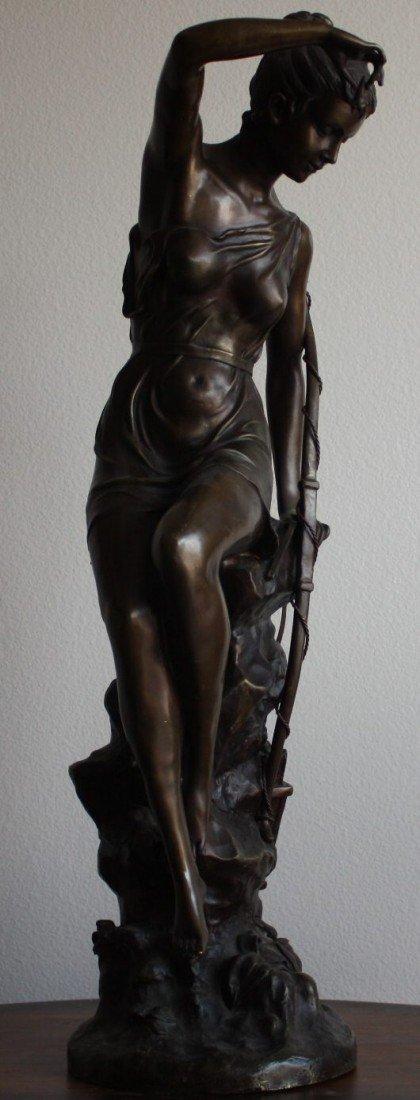 "1E: ""Female Archer"" bronze sculpture"