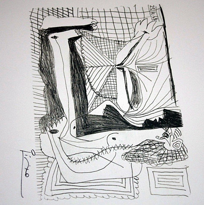 1H: Picasso limited edition lithograph