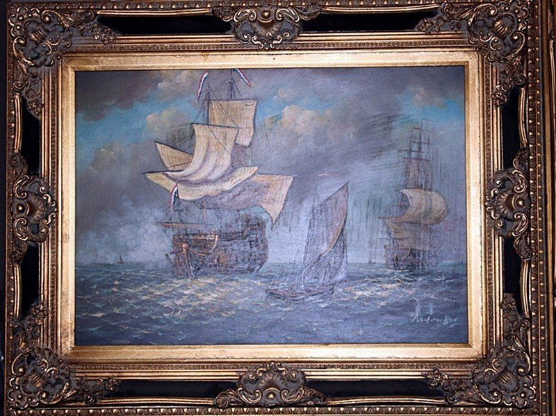 "1I: Antoning ""Ships"" oil on canvas"