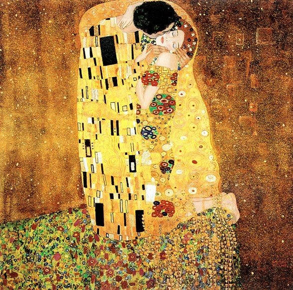 2B: The Kiss- Klimt - Limited Edition on Canvas