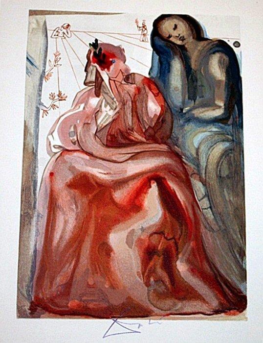 5: Dali rare signed color woodcut