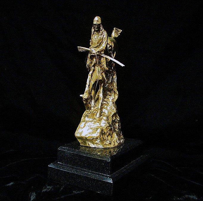 5A: Remington 24K Gold Layered Limited Edition Sculptur