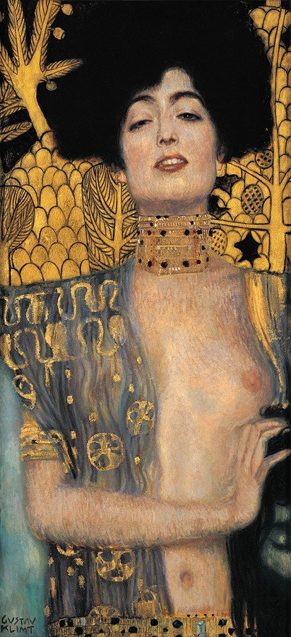 1H: Dark Haired Lady- Klimt- Limited Edition Giclee on