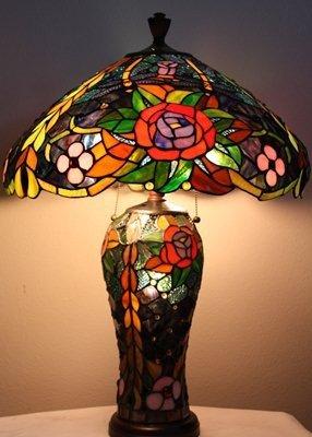 "4F: Glass ""Rose"" lamp"