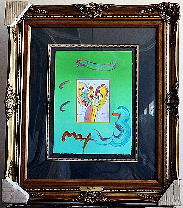 """3B: Peter Max """"Angel with Heart"""""""